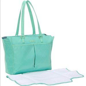 Vera Bradley Preppy Poly Uptown Baby Bag - Mint